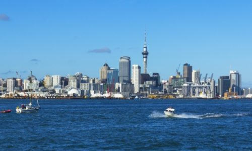 Auckland Central Business District From Harbour
