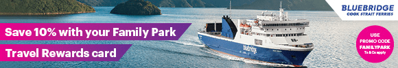 Save 10% on Bluebridge Cook Strait Ferries with Family Parks